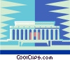 Vector Clipart image  of a Lincoln memorial
