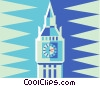 peace tower in Ottawa Vector Clipart illustration