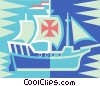 Vector Clip Art graphic  of a ship