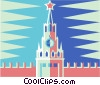 Russian Kremlin Vector Clipart illustration