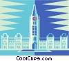 parliament building in Ottawa Canada Vector Clipart graphic