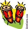 Vector Clip Art picture  of a bongo drum