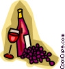 Vector Clip Art image  of a wine glass