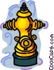 Vector Clipart illustration  of a fire hydrant