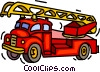fire truck, fire engine Vector Clip Art image