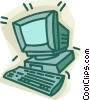 personal computer Vector Clipart illustration