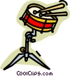 drums Vector Clip Art graphic