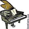 Vector Clipart image  of a grand pianos