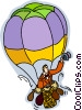 Vector Clipart illustration  of a hot air balloons