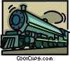 Vector Clip Art picture  of a Steam locomotive