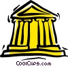 Vector Clip Art graphic  of a financial institution