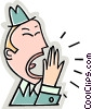 businessman yawning Vector Clipart picture