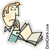 man reading a book Vector Clipart picture