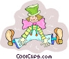 Vector Clipart illustration  of a clown