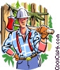 Vector Clip Art graphic  of a lumberjack