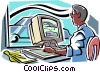Vector Clipart picture  of a car in a wind tunnel