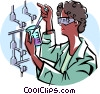 Vector Clipart graphic  of a scientist