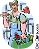 plumber Vector Clip Art graphic