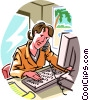 Vector Clipart graphic  of a businesswoman