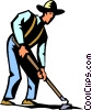 Vector Clipart picture  of a farmer