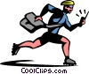 Vector Clipart illustration  of a couriers