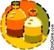 Vector Clipart illustration  of a pill bottles