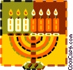 menorah Vector Clipart picture