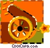 Vector Clip Art graphic  of a canon