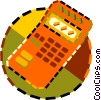 Vector Clip Art image  of a calculator
