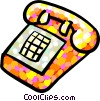 telephone Vector Clipart illustration