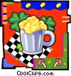Vector Clipart image  of a beer mug