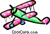 Vector Clip Art picture  of a biplane