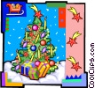 Vector Clipart picture  of a Christmas tree