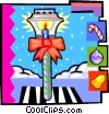Vector Clip Art image  of a street lamp at Christmas
