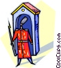 Vector Clip Art graphic  of a guard house