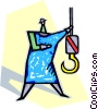 Vector Clip Art picture  of a construction hooks