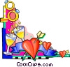 Vector Clipart image  of a weddings