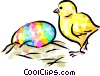 Chick and Easter egg Vector Clip Art picture