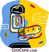 Vector Clipart illustration  of a cleaning supplies