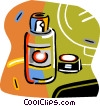 Vector Clipart graphic  of a spray can