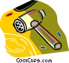 Vector Clip Art graphic  of a meat tenderizer