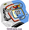 telephone Vector Clip Art graphic