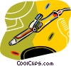 Vector Clip Art image  of a curling iron