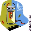 Vector Clip Art picture  of a coffee grinder