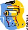 Vector Clip Art graphic  of a toilet tissue