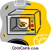 microwave ovens Vector Clip Art picture