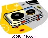 hot plate Vector Clipart graphic