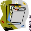 Vector Clip Art image  of a dishwashers