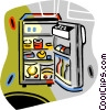 refrigerators Vector Clip Art graphic