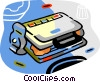 waffle maker Vector Clipart illustration